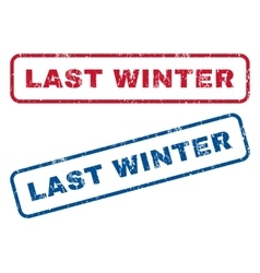Last Winter Rubber Stamps vector