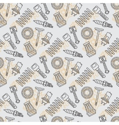 Line flat seamless background pattern with piston vector image