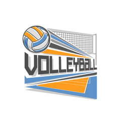logo for volleyball vector image