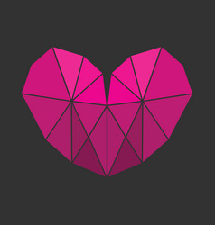 Lowpoly heart vector