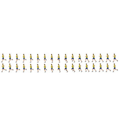 man run cycle animation sequence vector image
