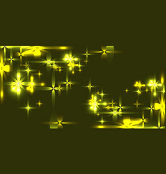 marsh background with shining light metal stars vector image