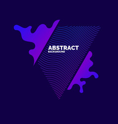 modern abstract elements with dynamic waves vector image