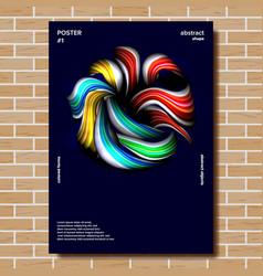 modern poster minimal shape splatter vector image