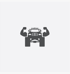 Muscle truck icon vector