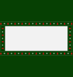 new year rectangle banner with xmas snowflakes vector image