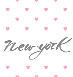 new york love text vector image