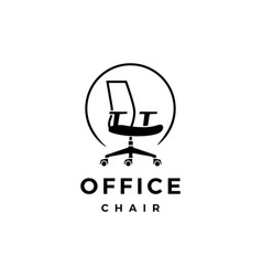 Office chair logo icon vector