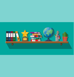 office interior background with shelves vector image