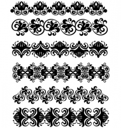 Ornament black vector