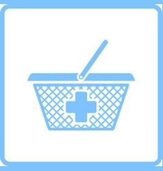 Pharmacy shopping cart icon vector