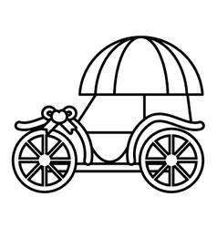 Pictogram wedding carriage retro icon design vector