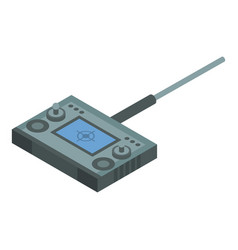 Radio drone remote control icon isometric style vector