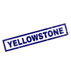 Rectangle grunge yellowstone stamp vector