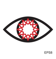 Red Eye Icon vector