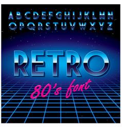 Retro stylish font poster vector