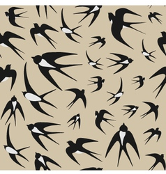 Seamless background with swallows vector image