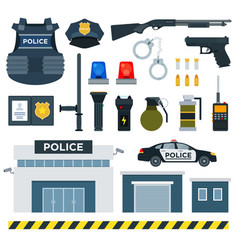 set police tools flat vector image