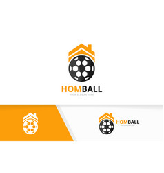 soccer and real estate logo combination vector image