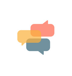 social media color chat bubbles icons vector image