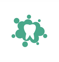 splash tooth human abstract family vector image
