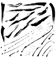 Splatter brushes and Brush Strokes vector