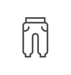 sport trousers line icon vector image