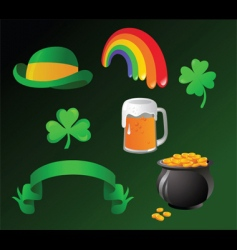 st patrick day icon vector image