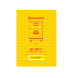 Sunny beekeeping banner honey product vector