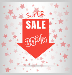super sale colored arrow banner big sale 50 off vector image