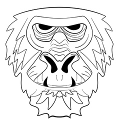 The graphic image of the monkey tattoo ink sketch vector