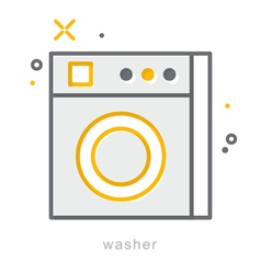 Thin line icons Washer vector