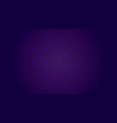 trendy low poly triangles on dark purple bg vector image