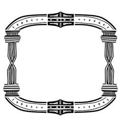 Vintage ornament doodle border frame vector image