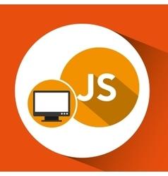 Web development computer js language vector