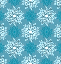 white and blue snowflake vector image