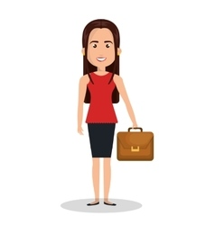 woman cartoon work executive isolated vector image