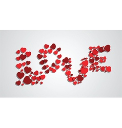 word love from hearts vector image