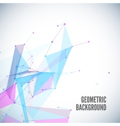 Abstract geometric background with circles lines vector image