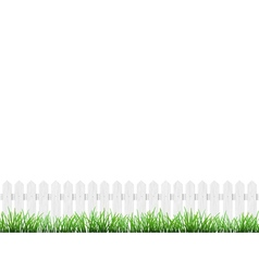 fence and grass isolated vector image vector image