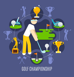 golf championship round composition vector image vector image
