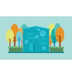 House and tree design vector image vector image