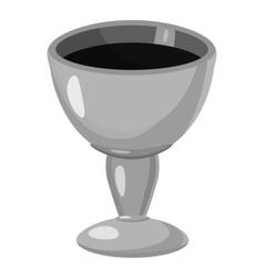 Jewish bowl icon gray monochrome style vector image vector image