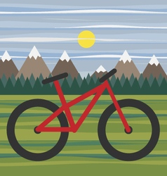 Mountain landscape for eco bike tourism vector image