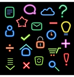 neon icons vector image vector image