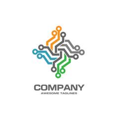 digital electronics logo design vector image