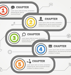 Infographics banners design with icons vector image vector image