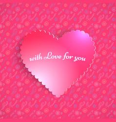 pink valentine heart vector image
