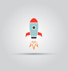 rocket isolated colored icon vector image