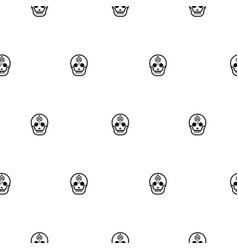 skull small elegant seamless pattern vector image